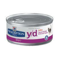 Hill's Prescription Diet y/d Feline blikjes 24 x 156 gram