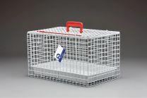 Standaard Draagbare Katten Kooi (WIT) incl. plastic tray