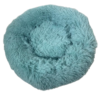 Fluffy donut mand Turquoise maat S