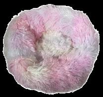 Fluffy donut mand bont gekleurd maat L