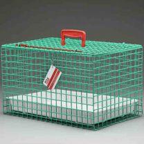 Standaard Draagbare Katten Kooi (GROEN) incl. plastic tray