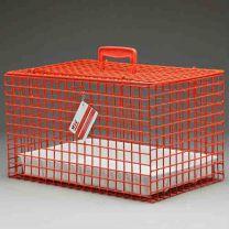 Standaard Draagbare Katten Kooi ROOD incl. plastic tray