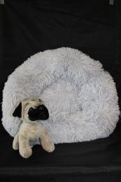 Fluffy donut mand grijs maat S
