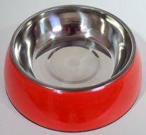 Hondendrink- / voerbak groot (21cm)-Rood