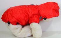 Honden Jas ( Regenjas ) Rood met immitatiebont